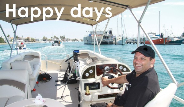 Happy days - Trevor on the water